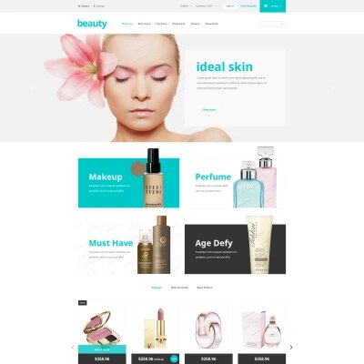 Plantilla de Beauty Store