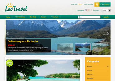 Plantilla de Leo Travel