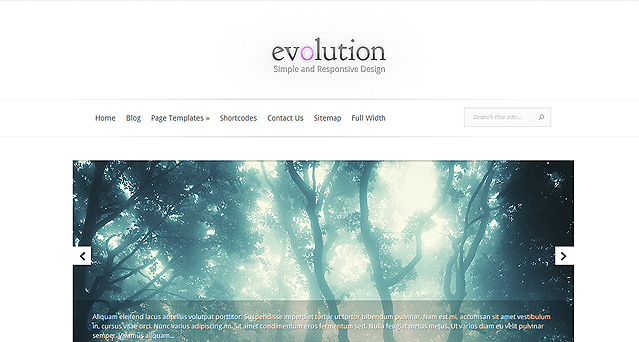 Plantilla de Evolution