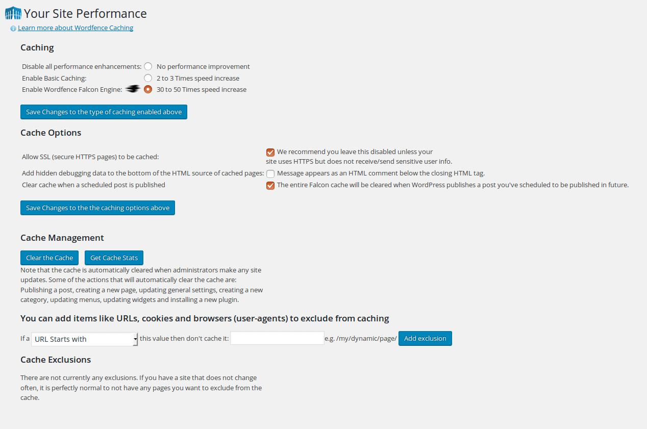 Plugin cache WordPress Wordfence Security