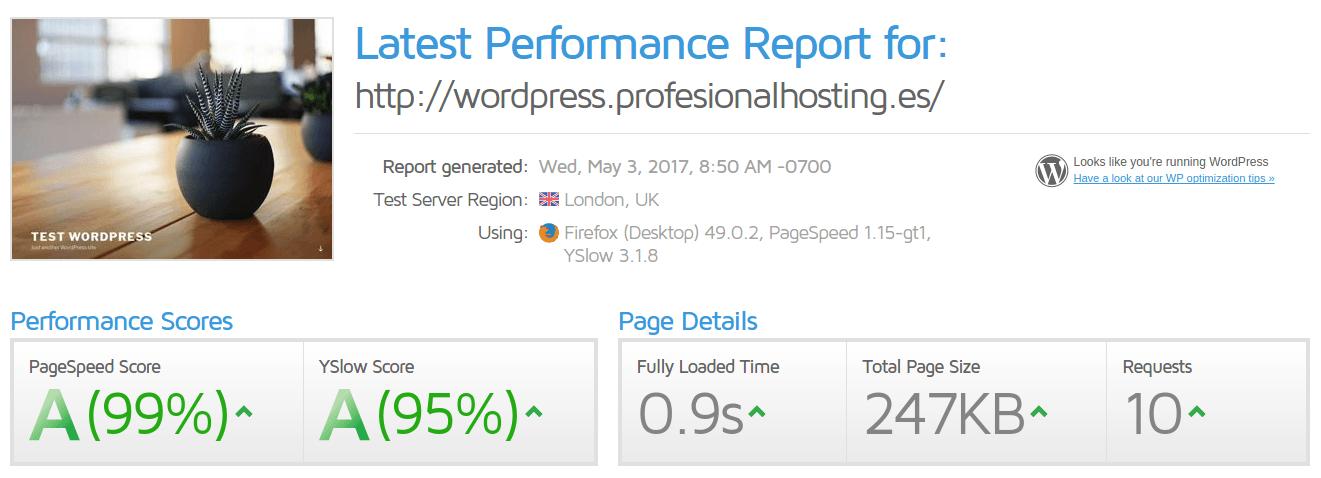 Page score 99%