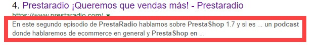 meta descripcion prestaradio