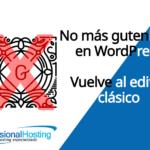 editor clasico de wordpress