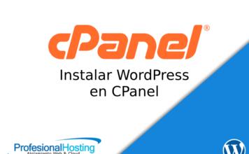 instalar wordpress cpanel