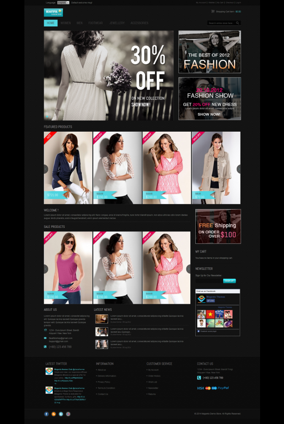 Plantilla de BeautifulShop - Responsive fashion