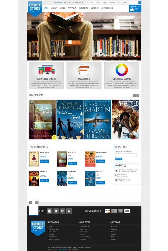 Plantilla de EBook Shop Responsive