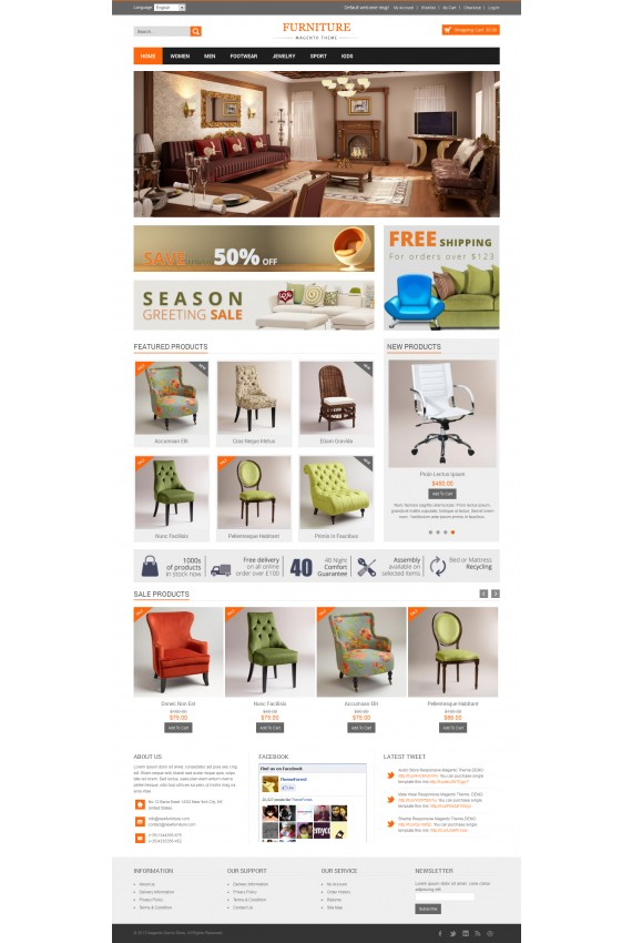 Plantilla de New Furniture Responsive