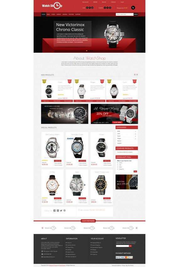 Plantilla de Watch Shop Responsive